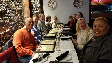 Chris Stevenson (President), Mike Hutcherson (Treasurer), Larry Weishaar (Vice President), Rita Wiersma, Barbara Merrill (ANCOR CEO), Bonnie-Jean Brooks, Terry Rogers, Lynne Megan, Marcy Stevenson (guest), and Patricia Browne.
