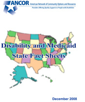 Disability and Medicaid State Fact Sheets