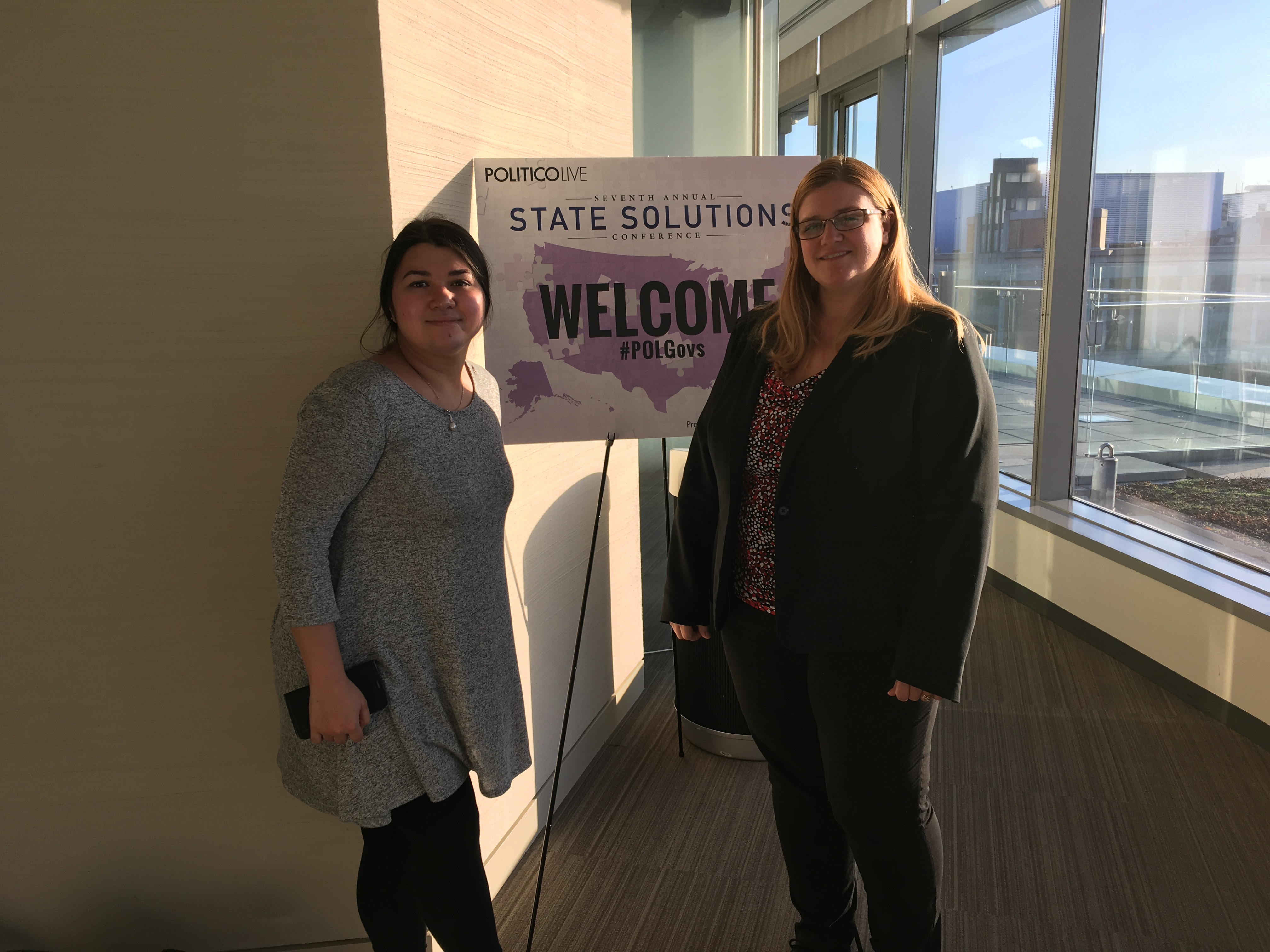 Doris and Katherine at Politicos State Solutions Conference
